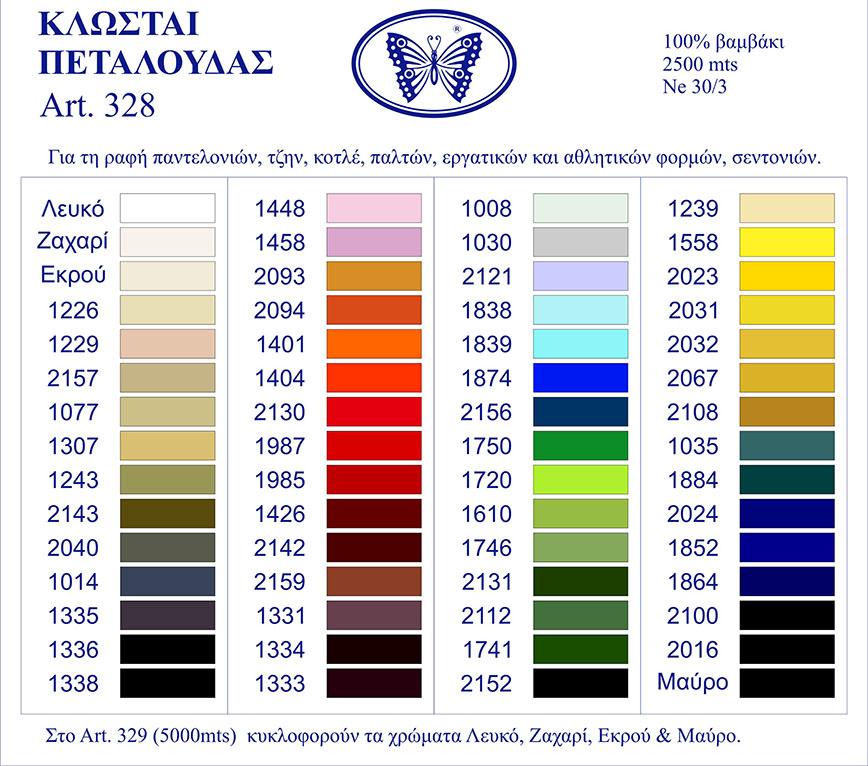 Χρωματολόγιο κλωστών