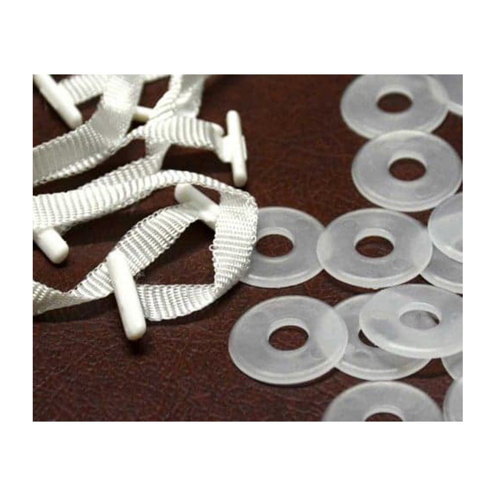 Plastic white washers