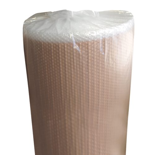Packaging bubble wrap film with paper
