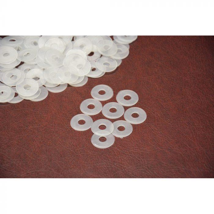 Plastic white washers
