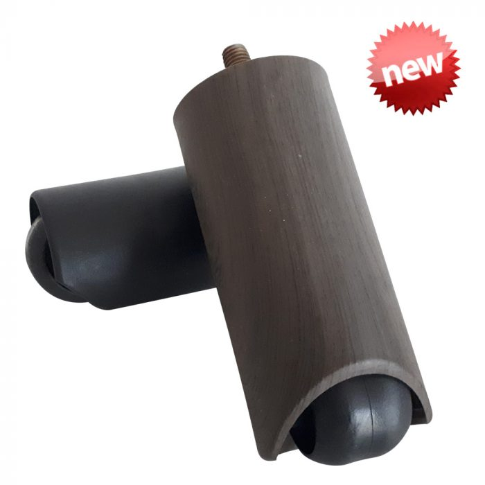 PLASTIC FURNITURE LEG WITH WHEEL 120MM M10